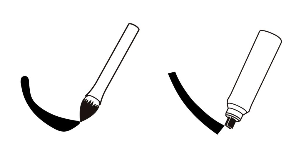 書寫工具對筆畫特色的影響