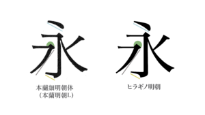 本蘭 v.s. Hiragino