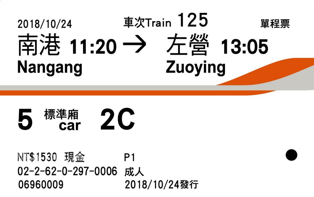 新版高鐵車票
