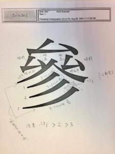 Matisse-M「參」字設計