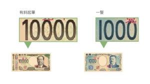 新日鈔千元、萬元比較