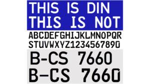 車牌字體比較