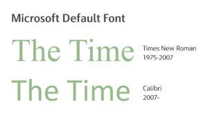 微軟預設字型