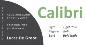 Calibri cover