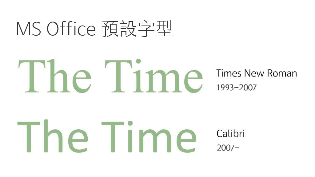 微軟 office 預設字型